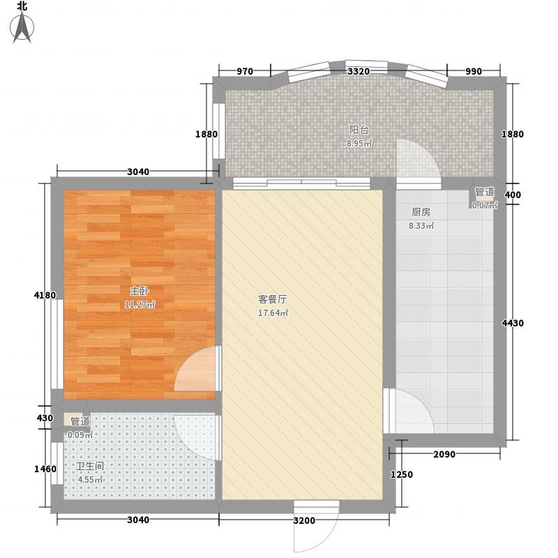 半里花庭73.27㎡半里花庭户型图A户型1室1厅1卫1厨户型1室1厅1卫1厨