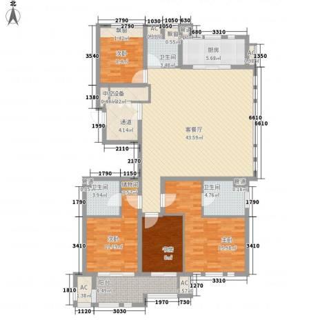 华润置地橡树湾4室1厅3卫1厨176.00㎡户型图