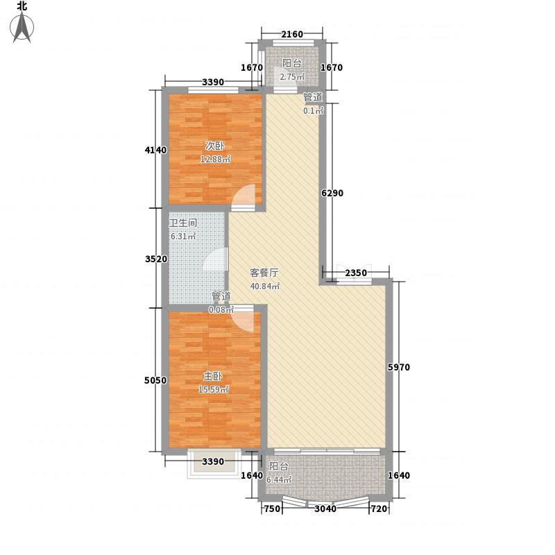 半里花庭119.91㎡半里花庭户型图C户型2室2厅1卫1厨户型2室2厅1卫1厨