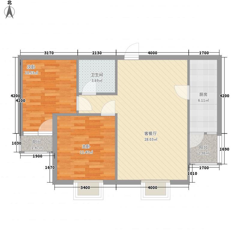 香樟雅苑81.00㎡户型2室