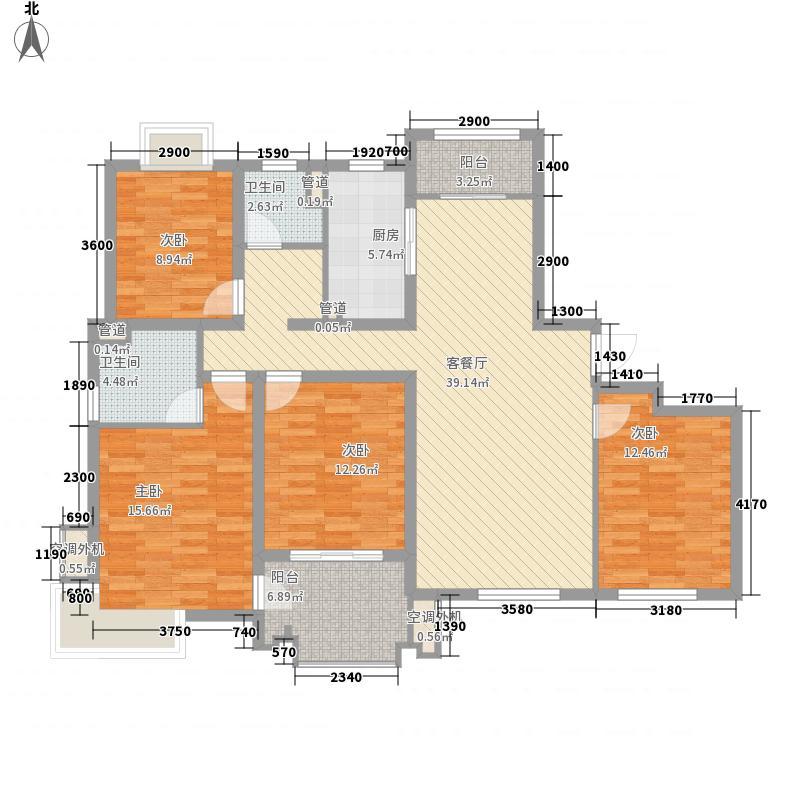 国基城邦141.00㎡C户型4室2厅2卫1厨