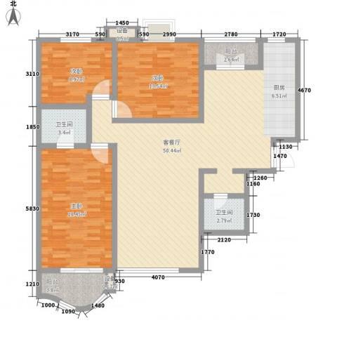 新街坊佳兴园3室1厅2卫0厨150.00㎡户型图
