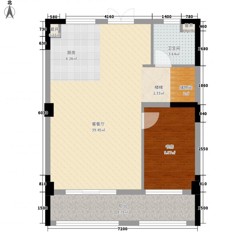 保利湾天地户型图7号楼中间套1楼户型图 4室2厅2卫1厨
