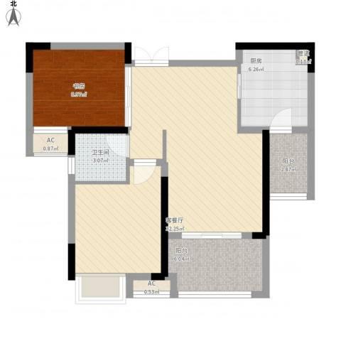 麒川时代广场1室1厅1卫1厨89.00㎡户型图