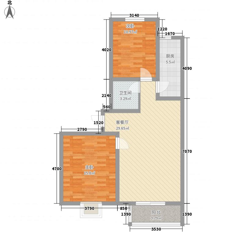 盛景八方98.69㎡盛景八方户型图C户型2212室2厅1卫户型2室2厅1卫