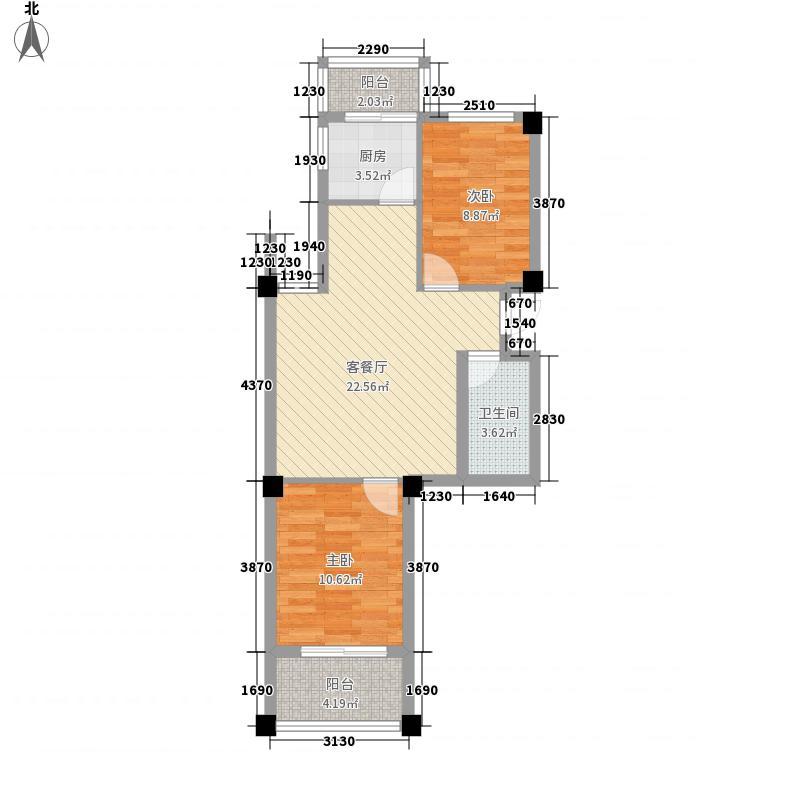 金山大景城80.00㎡金山大景城户型图2室2厅1卫1厨户型10室
