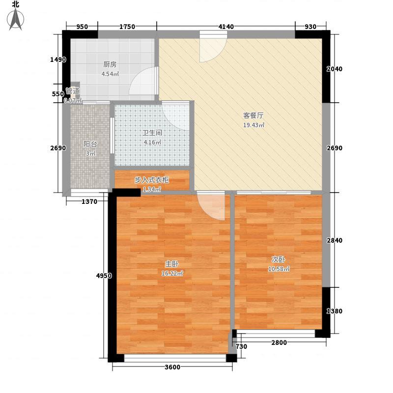 金牛花苑83.00㎡金牛花苑2室户型2室