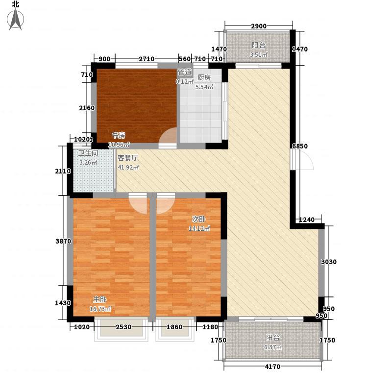 银河湾127.80㎡一期3#楼D户型3室2厅1卫1厨