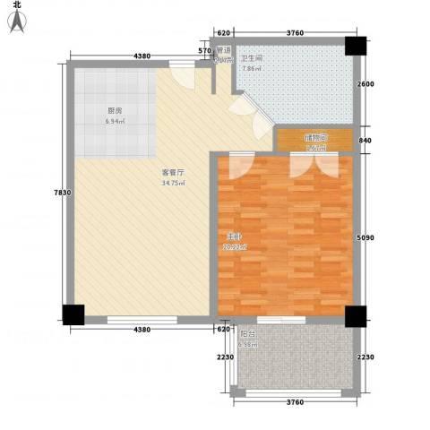 北京太阳城三期1室1厅1卫0厨100.00㎡户型图