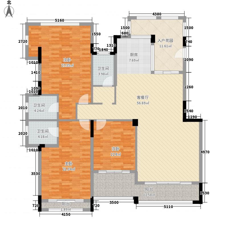 中建芙蓉和苑178.47㎡C-3户型3室2厅3卫