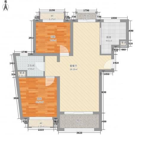 南郊新公馆2室1厅1卫1厨89.00㎡户型图