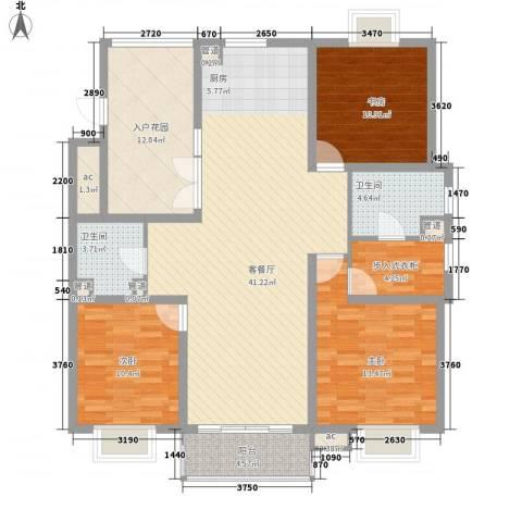 东苑古龙城3室1厅2卫0厨154.00㎡户型图