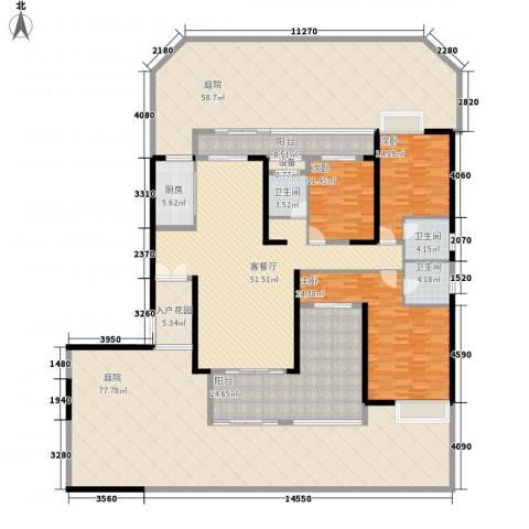 中建江山壹号3室1厅3卫1厨294.76㎡户型图