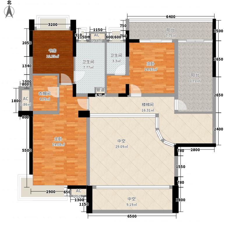 五洲花城二期复式D1a首层户型
