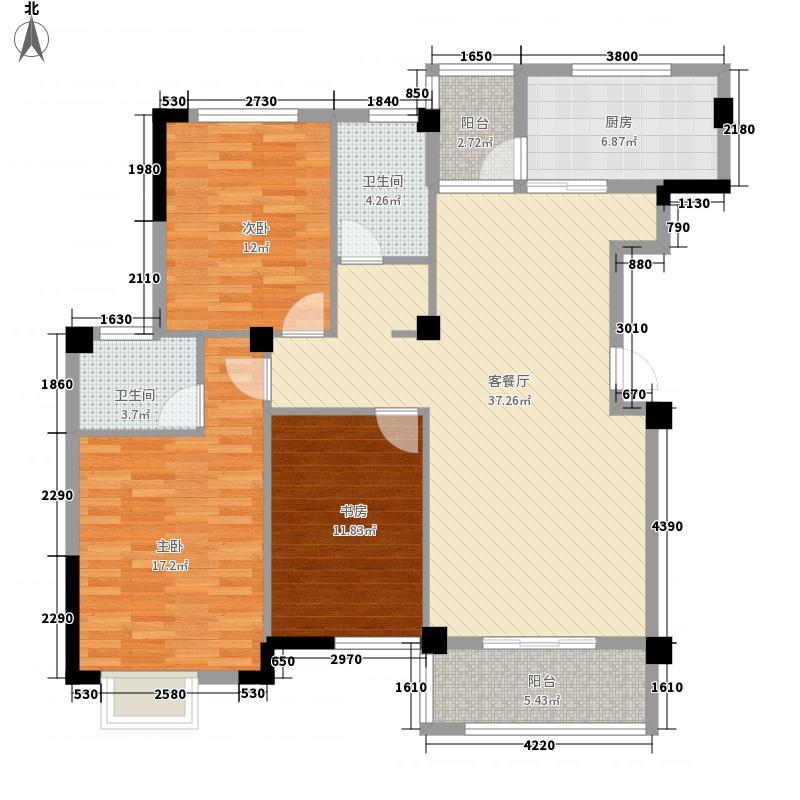 磨基山旅游综合体124.80㎡C户型3室2厅2卫