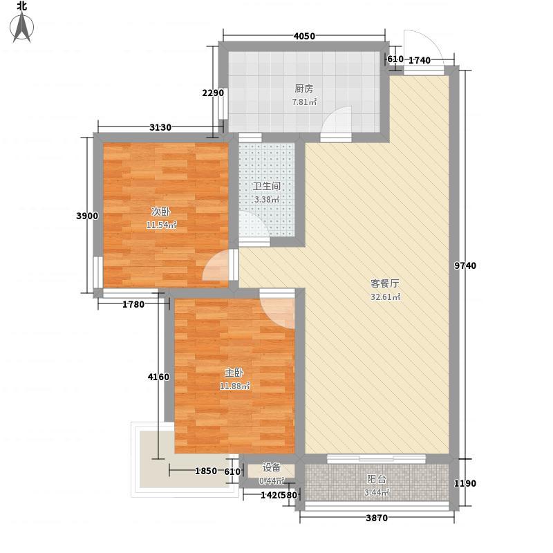 鼓楼巷农行家属院C2户型2室2厅1卫1厨