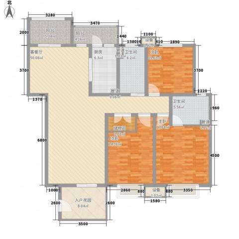 金狮薇尼诗花园3室1厅2卫1厨191.00㎡户型图
