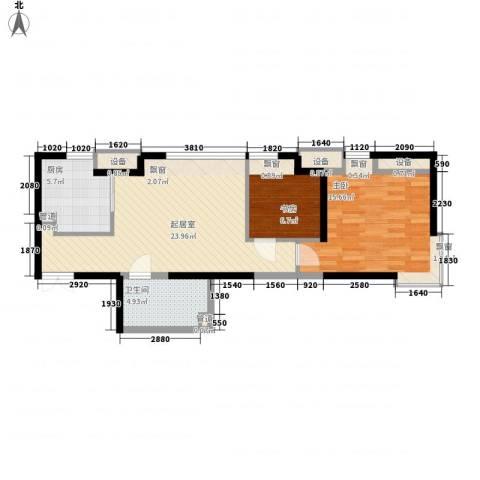 金融街南开中心2室0厅1卫1厨78.00㎡户型图
