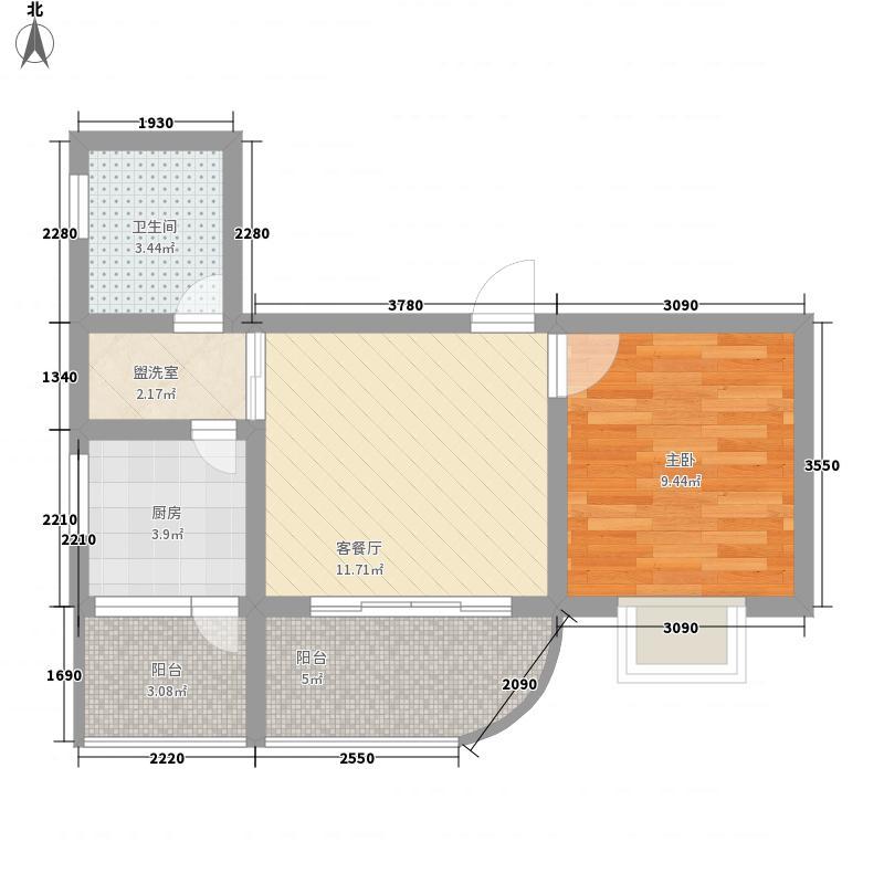 米兰天空57.90㎡米兰天空户型图B户型1室1厅1卫1厨户型1室1厅1卫1厨