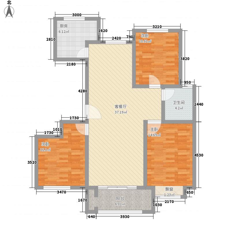 金鼎华府二期高层13#楼A户型