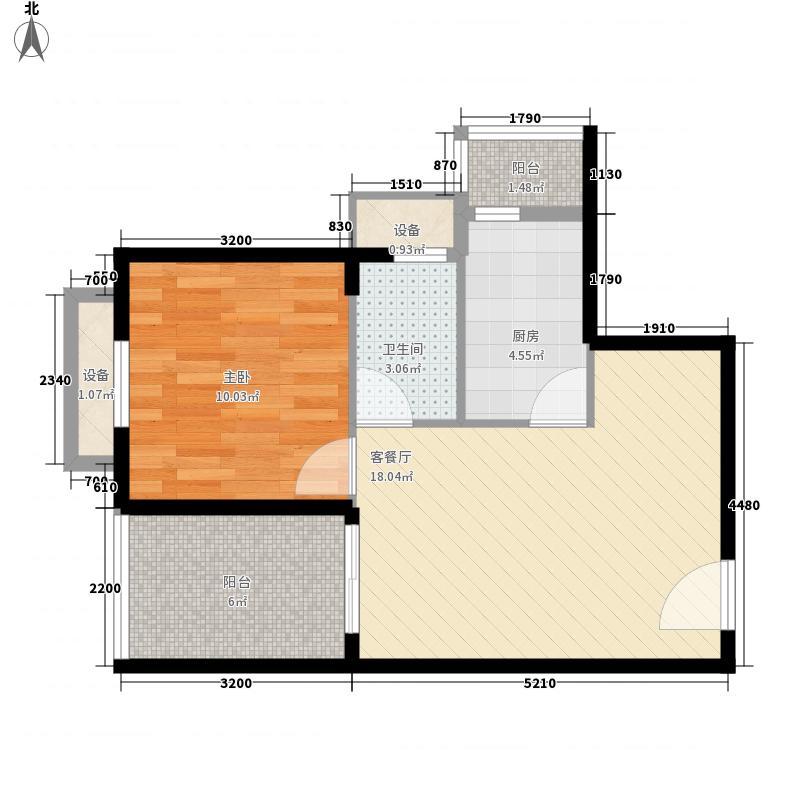 云锦台55.40㎡云锦台户型图3号楼F户型2室2厅1卫1厨户型2室2厅1卫1厨