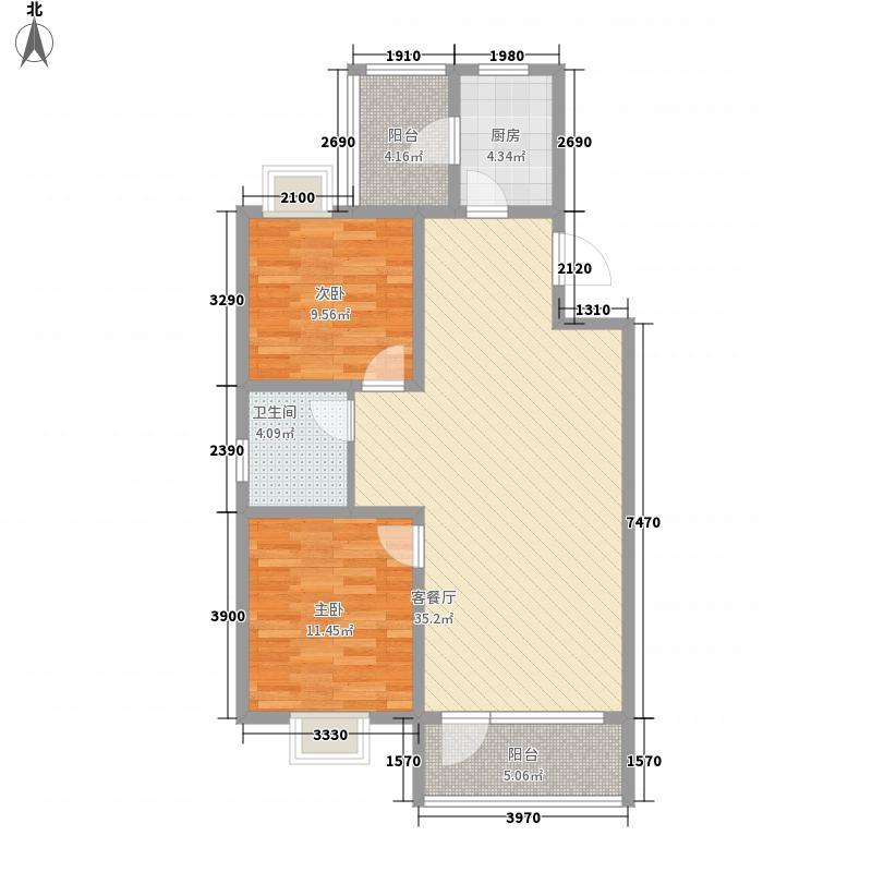富兴・湖畔欣城95.13㎡富兴・湖畔欣城户型图A1户型2室2厅1卫户型2室2厅1卫