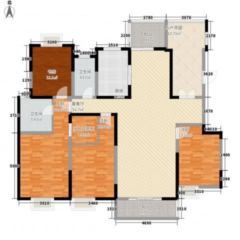 金泰假日花城4室1厅2卫1厨191.00㎡户型图