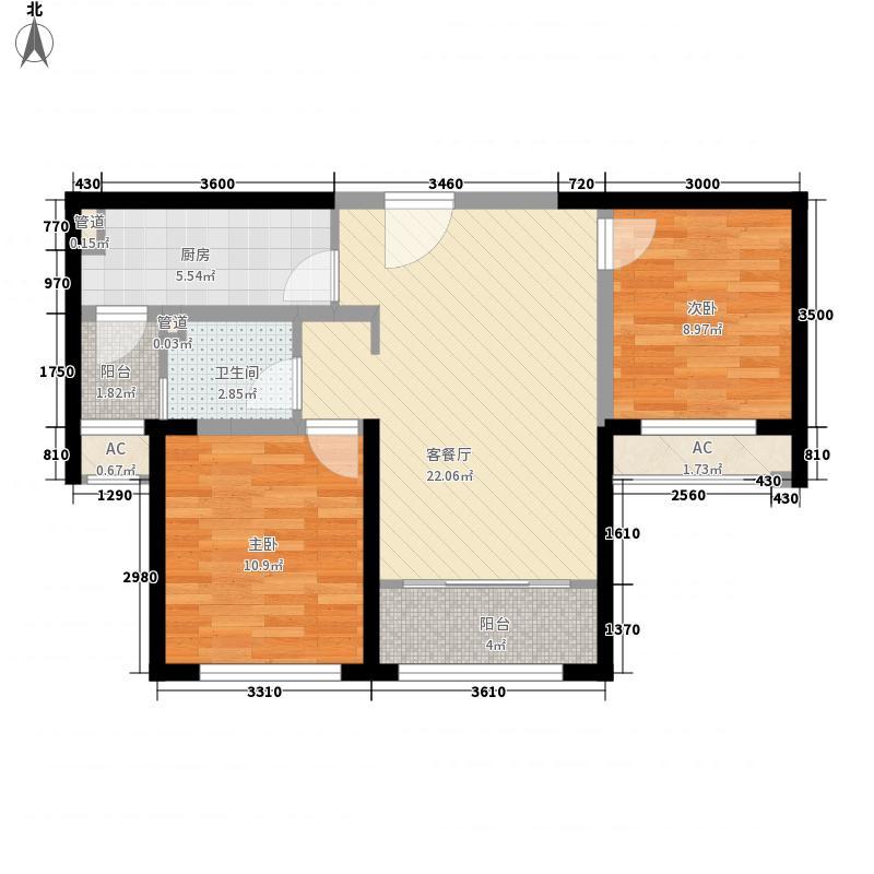 融创洞庭路壹号10-12、17-19号楼标准层C2户型