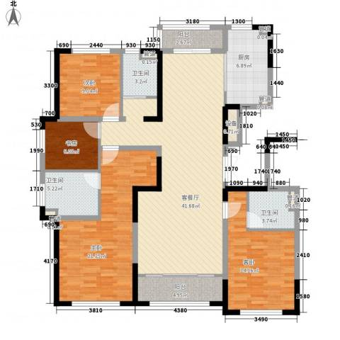 融创洞庭路壹号4室1厅3卫1厨172.00㎡户型图