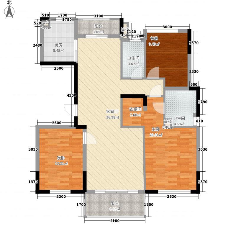 万科翡丽山130.00㎡万科翡丽山户型图32-33栋01-02单元A户型标准层3室2厅2卫1厨户型3室2厅2卫1厨