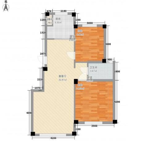 鼎盛佳苑2室1厅1卫1厨89.00㎡户型图
