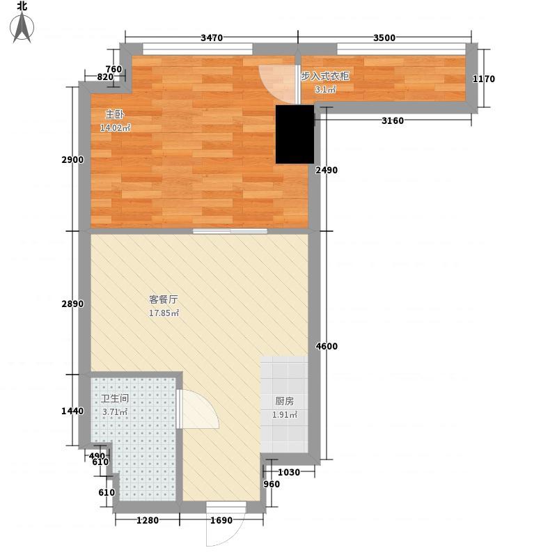 绿地国际花都55.00㎡绿地国际花都户型图55平米公寓户型1室1厅1卫1厨户型1室1厅1卫1厨