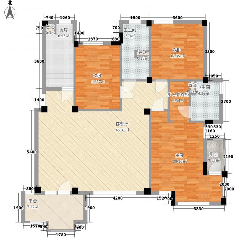 香樟雅苑103.00㎡香樟雅苑2室户型2室