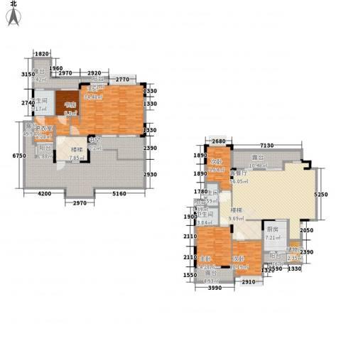 中惠沁林山庄5室1厅3卫1厨246.56㎡户型图