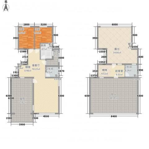 高教新城・学区嘉园2室1厅2卫1厨199.06㎡户型图
