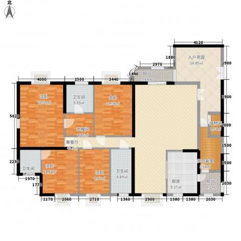 莲花苑4室1厅3卫1厨230.00㎡户型图
