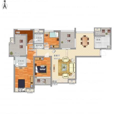 中海观园4室1厅2卫1厨162.00㎡户型图