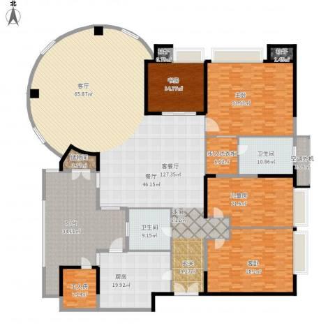 世纪绿洲4室1厅2卫1厨438.00㎡户型图