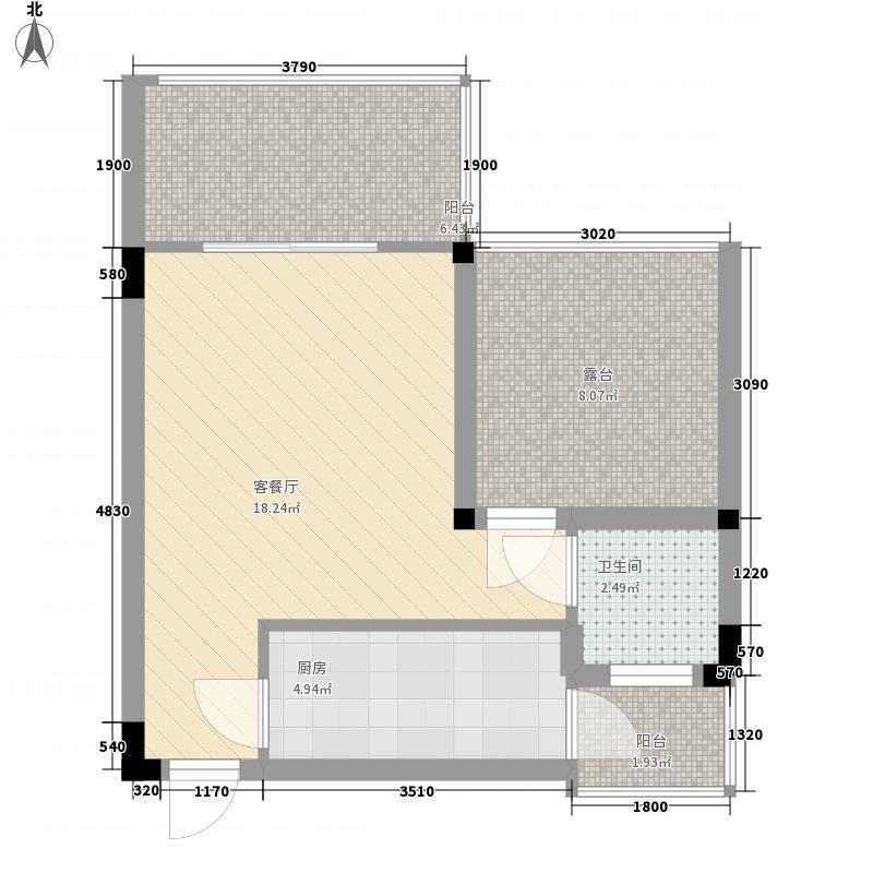 锦城山谷二期1号楼标准层C2户型