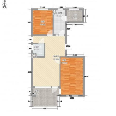 高教新城・学区嘉园2室1厅1卫1厨90.00㎡户型图