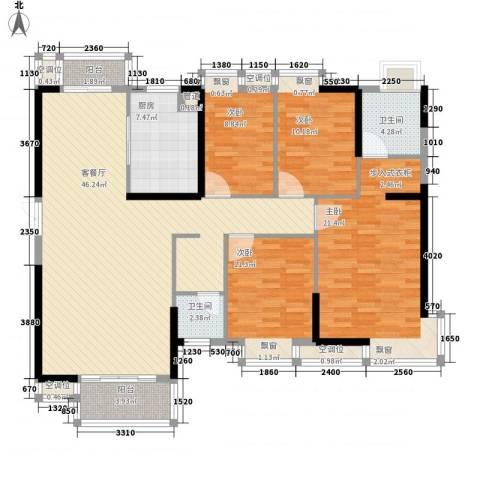 万达星城4室1厅2卫1厨171.00㎡户型图