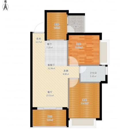 恒大名都2室1厅1卫1厨114.00㎡户型图