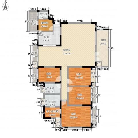 江海皇都4室1厅3卫1厨248.00㎡户型图