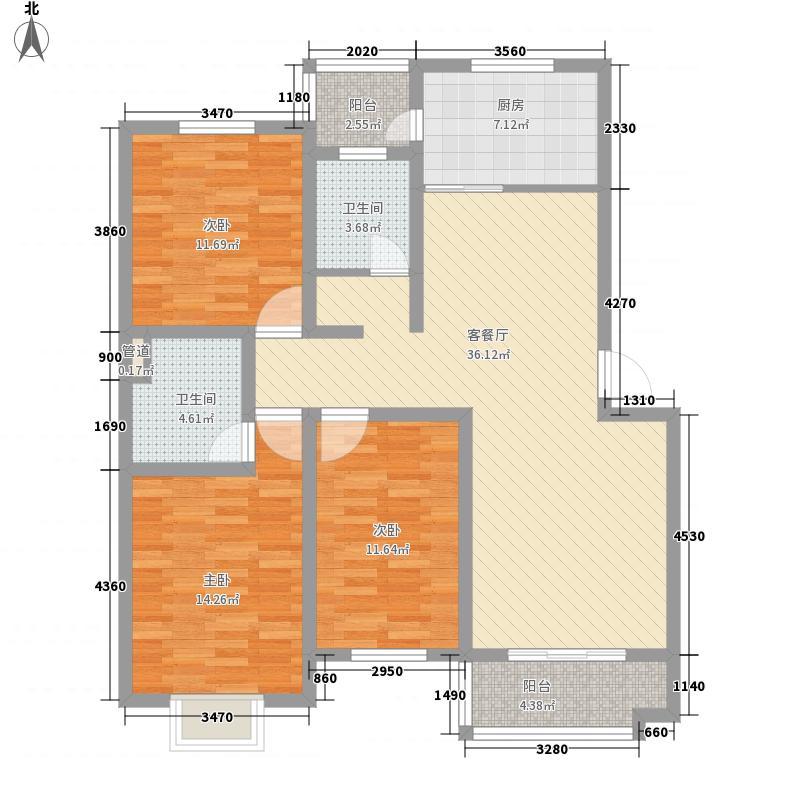 福海新居139.00㎡福海新居3室户型3室
