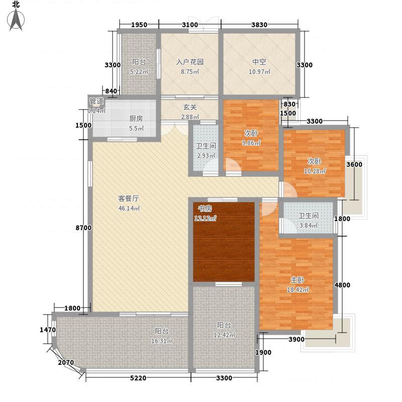 熙龙湾182.00㎡熙龙湾户型图二期5栋B座01房(5-27层,奇数层)4室2厅2卫户型4室2厅2卫