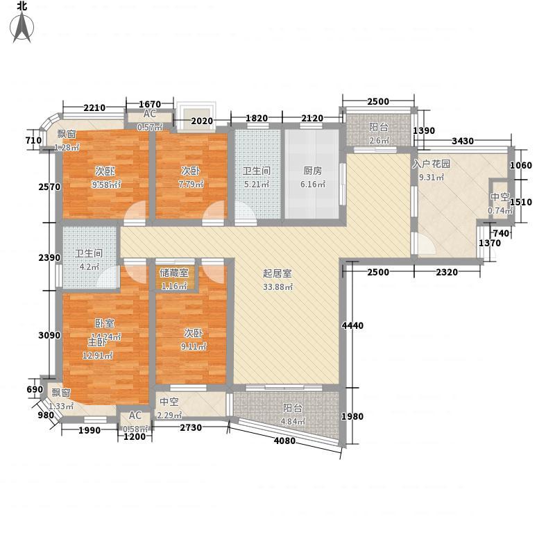天顺剑桥映象158.00㎡D1户型4室2厅2卫1厨