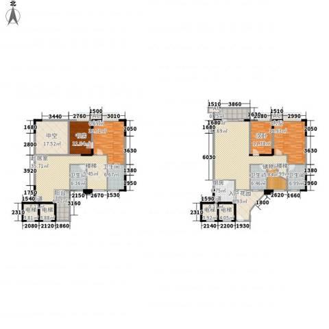 石竹山水园四期4室1厅4卫1厨243.00㎡户型图