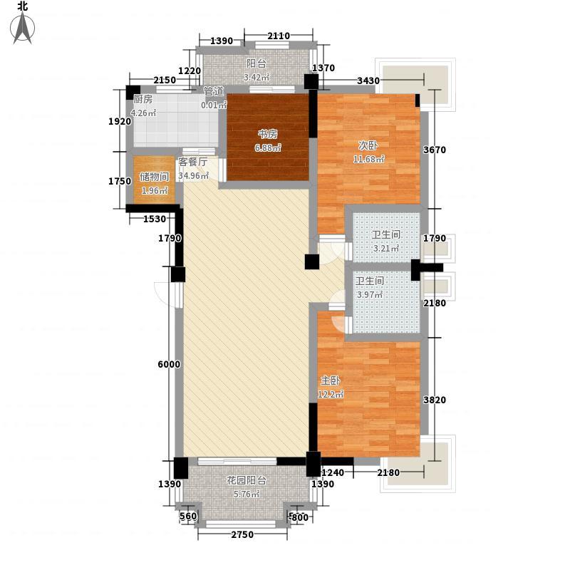 德尚国际村130.28㎡德尚国际村户型图G2-1户型3室2厅2卫1厨户型3室2厅2卫1厨