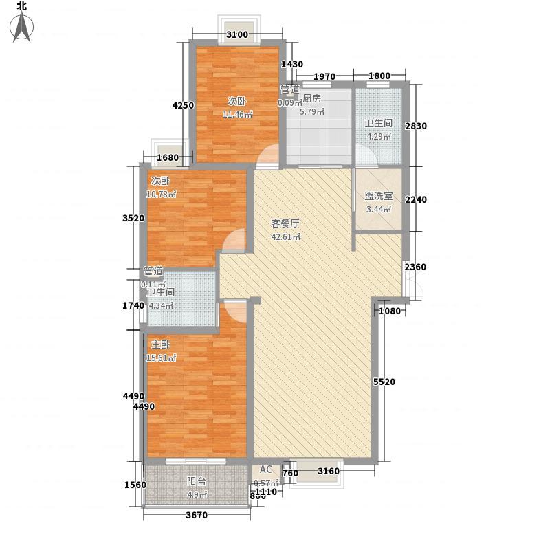 富豪新岸户型图A1+2层(12/12张)