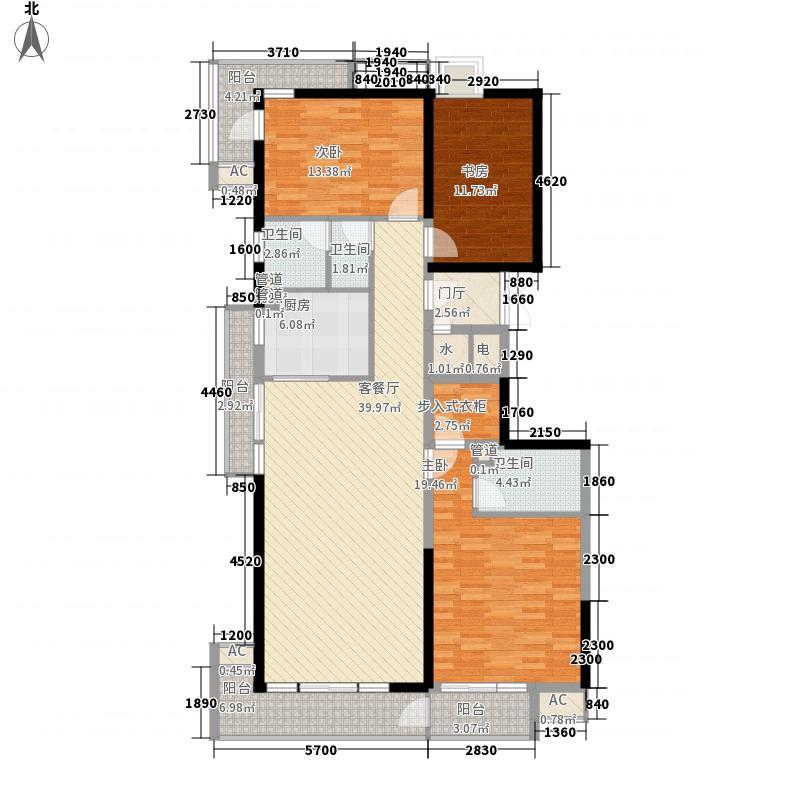 美利山136.83㎡C8栋-A5(b)户型3室2厅2卫1厨